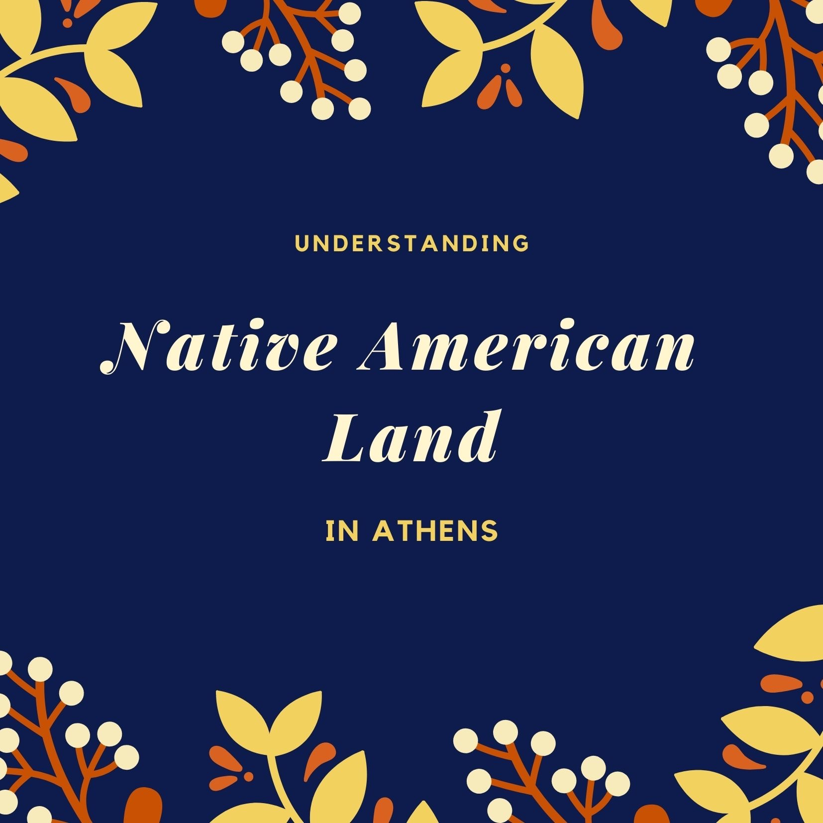Native American Land in Athens